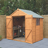 Forest Delamere 7' x 5' (Nominal) Apex Shiplap Timber Shed with Base & Assembly