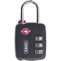 Abus Metal & Plastic 146TSA Combination Luggage Padlock Black 33mm