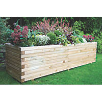 Forest Rectangular Lomello Planter Natural Wood 1800 x 500 x 500mm