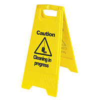 Caution Cleaning in Progress A-Frame Safety Sign 600 x 290mm