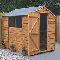 Forest  5' x 7' (Nominal) Apex Overlap Timber Shed with Base & Assembly