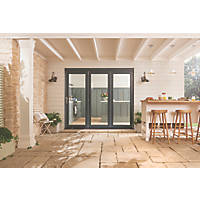 Jeld-Wen Bedgebury 3-Door Satin Painted Grey Wooden Slide & Fold Patio Door Set 2094 x 2394mm