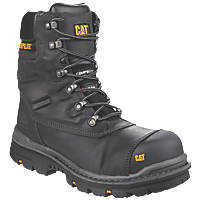 CAT Premier Metal Free  Safety Boots Black Size 7