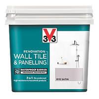 Liberon V33 Wall Tile & Panelling Paint Satin Rye Brown 750ml