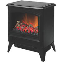 Dimplex Casper Black Electric Stove with Built-In Fan Heater