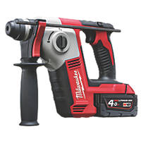Milwaukee M18 BH-402C 2.5kg 18V 4.0Ah Li-Ion RedLithium  Cordless SDS Plus Hammer Drill