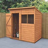Forest Delamere 6' x 4' (Nominal) Pent Shiplap Timber Shed with Base