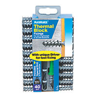 Plasplugs Thermal Block Fixings Nylon 33mm 40 Pack