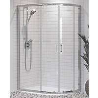 Aqualux Offset Quadrant Shower Enclosure & Tray Right-Hand 1000 x 800 x 1900mm