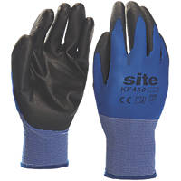 Site KF450 Premium PU Gloves Blue / Black Large