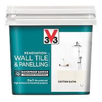 Liberon V33 Wall Tile & Panelling Paint Satin Cotton Off-White 750ml