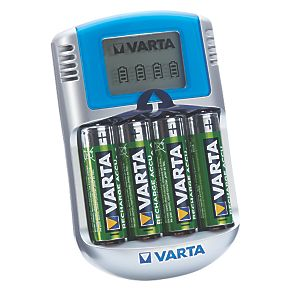 Varta Fast LCD Battery Charger 4 X AA Ready2Use Batteries 7287K