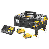 DeWalt DCK2110L2T-GB 12V 3.0Ah Li-Ion XR Brushless Cordless Sub Compact Twin Pack