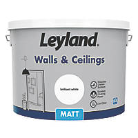 Leyland Retail Matt Emulsion Paint Brilliant White 10Ltr