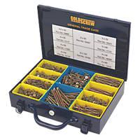 Goldscrew PZ Double Countersunk General Trade Case 1400 Pcs