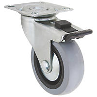 Select TPR Braked Swivel Castor 75mm