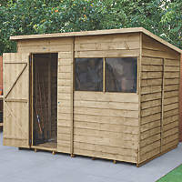 Forest  8' x 6' (Nominal) Pent Overlap Timber Shed