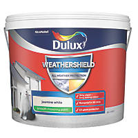 Dulux Weathershield Smooth Masonry Paint Jasmine White 10Ltr