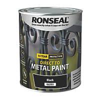 Ronseal Metal Paint Black 750ml