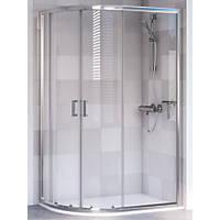 Aqualux Offset Quadrant Shower Enclosure & Tray Left-Hand 1200 x 800 x 1900mm