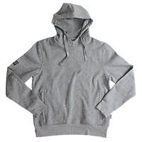 """JCB Essential Hoodie Marl Grey Medium 38-40"""" Chest"""