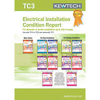 Kewtech TC3 Electrical Installation Condition Report Up To 100A Supply Certificates Pad