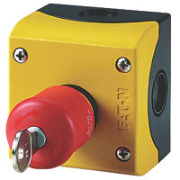 Eaton  Red Push-Button Key-Release Emergency Stop Station