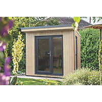 """Forest Xtend+ 8' 6"""" x 8' Pent Insulated Garden Office with Base & Assembly"""