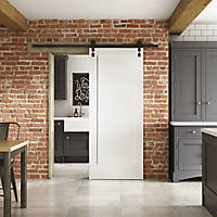 Jeld-Wen  Primed White Wooden 1-Panel Shaker Internal Sliding Barn Door 2073 x 862mm