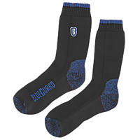 SockShop Blueguard Anti-Abrasion Durability Socks Black Size 9-11