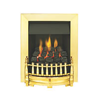 Valor Blenheim Brass Rotary Control Inset Gas Fire