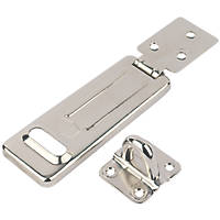 Smith & Locke Hasp & Staple Nickel 118mm