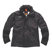 "Scruffs Pro Waterproof Jacket Black X Large 48"" Chest"