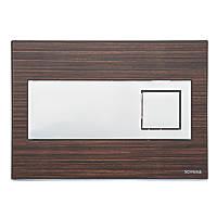 Fluidmaster Schwab Caro 12400 Dual-Flush Flushing Plate Wood Effect Wenge
