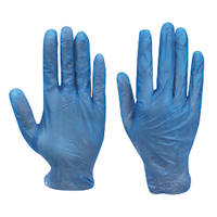 Cleangrip  Vinyl Powdered Disposable Gloves Blue X Large 100 Pack