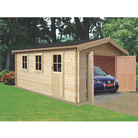 Monmouth Log Cabin Garage 4.1 x 4.4m