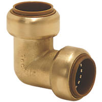 Tectite Classic  Brass Push-Fit Equal 90° Elbow 22mm