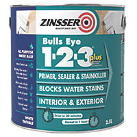 Zinsser Bulls Eye 1-2-3 Plus Primer 2.5Ltr