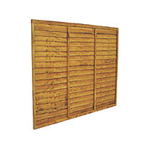 Forest  Lap  Fence Panels 6 x 5' Pack of 3