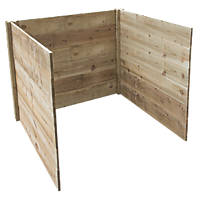 Forest Slot Down Compost Bin Extension 1.03 x 0.97 x 1.2m