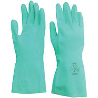Site KF500 Chemical Resistant Nitrile Gauntlets Green Large