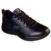 Skechers Marsing Gmina Metal Free Ladies Non Safety Shoes Black Size 7
