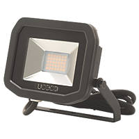 Luceco LFS12B150 LED Slim Floodlight 15W Black Cool White