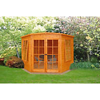 Shire Hampton Corner Summerhouse Assembly Included 2.25 x 2.25m