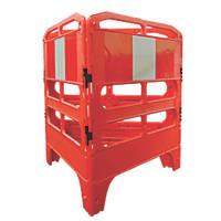 Melba Swintex  3-Part Utility Pedestrian Barrier Red