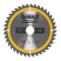 DeWalt Circular Saw Blade 190 x 30mm 40T