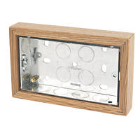 Varilight  2-Gang Surface Pattress Double Wall Box 25mm