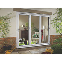 Euramax uPVC Fold & Slide Double-Glazed Patio Door Right-Hand 2390 x 2090mm