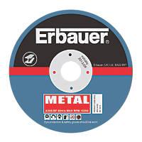 """Erbauer Cutting Discs 4½"""" (115mm) x 1 x 22.23mm 5 Pack"""