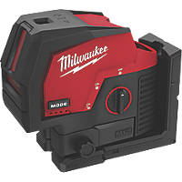Milwaukee M12CLLP-0 12V Li-Ion RedLithium Green Self-Levelling Cross-Line Laser Level - Bare